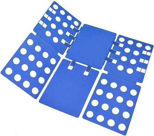 BoxLegend Doblador de Camisetas Camisas Ropa Adulto Infantil-Tabla para Doblar Ropa 57 * 70cm Azúl Plegar Camisetas Camisas Ropa