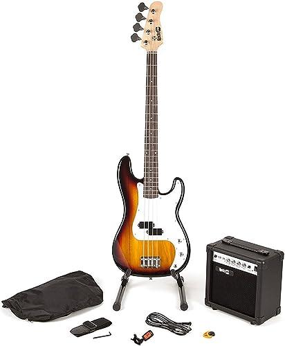 Rockjam en Taille Réelle Kit Super Guitare Basse avec un Sac Guitare Accordeur de Guitare Amplificateur Guitare Stand...