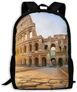 Backpack Romansunset Zipper School Bookbag Daypack Travel Rucksack Gym Bag For Man Women