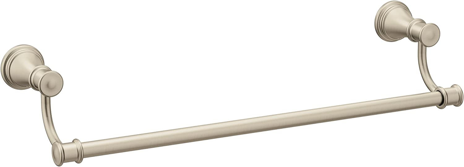 Moen YB6418BN Belfield 18-Inch Bathroom Towel Bar, Brushed Nickel