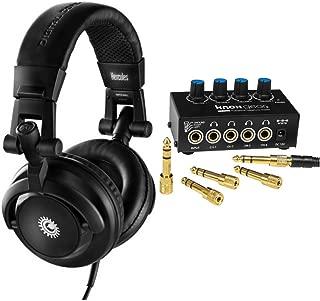 Hercules HDP DJ-M40.1 DJ Headphones Bundle with Knox Stereo Headphone Amplifier (2 Items)