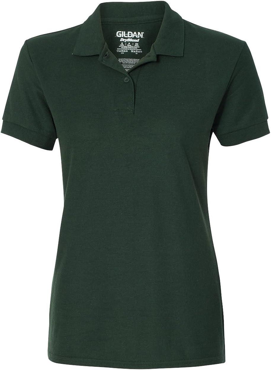 Gildan Womens DryBlend 6.3 oz. Double Piqué Sport Shirt G728L -FOREST GREEN 2XL