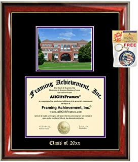 Diploma Frame Big University of Portland Graduation Gift Case Embossed Picture Frames Engraving Degree Graduate Bachelor Masters MBA PHD Doctorate School