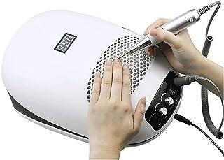 MTFZD Succión de Polvo de Uñas Aspiradora de Polvo de Uñas Taladro de Uñas Máquina de Manicura Lámpara Extractor Ventilador para Herramienta de Uñas de Manicura (Color : White)