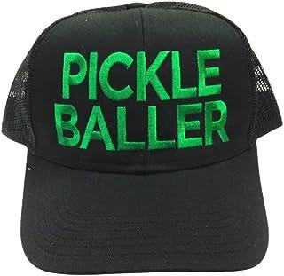 قبعة Pickleball للرجال والنساء | إكسسوارات كرة مخلل للرجال والنساء | هدية مبتكرة ممتعة على شكل كرة مخلل | إكسسوار أسود