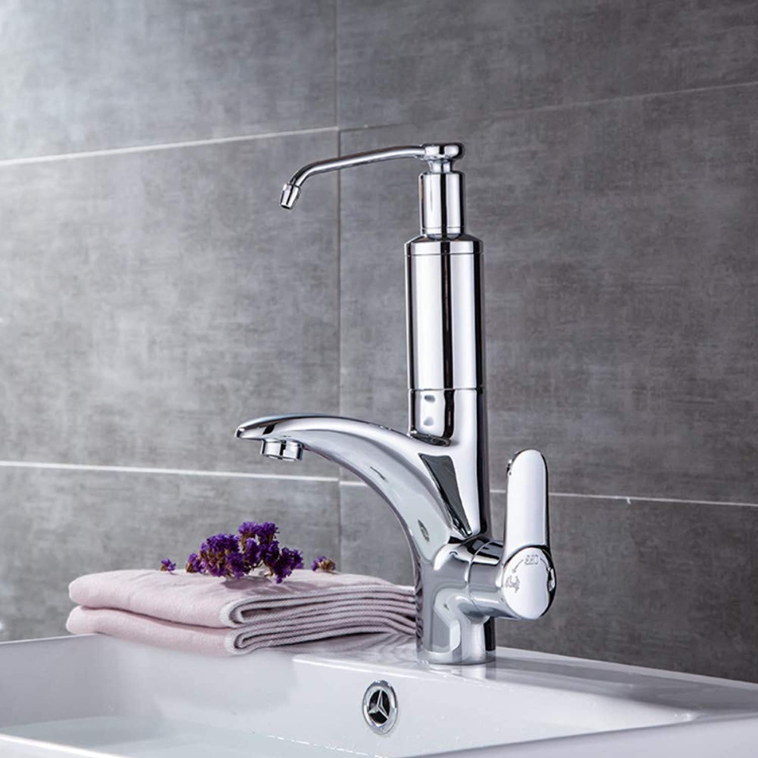 Ayhuir Bathroom Chrome Brass Kitchen Faucet Hot and Cold Water Water Purification Single Hole High Quality Wash Basin Faucet