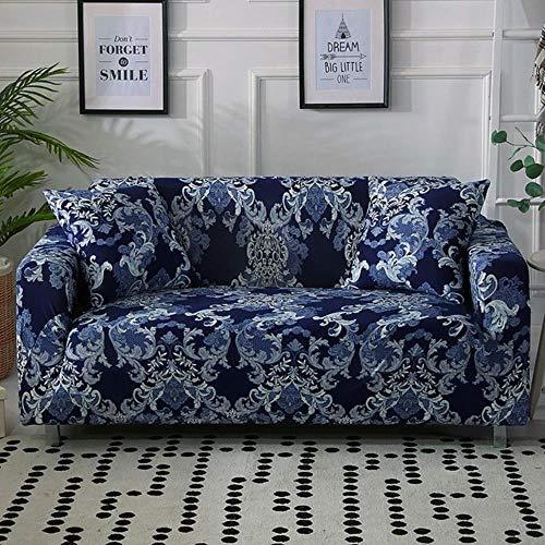 Funda de sofá gris Fundas de muebles elásticas Fundas de sofá elásticas para sala de estar Funda de asiento con funda deslizante funda de asiento de spandex sofá de 1-4 plazas, color 21,4-plazas (235