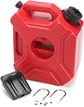 YOUNGFLY Gas Can 1.3 Gallon Portable Fuel Oil Petrol Diesel Storage Gas Tank Emergency Backup for Motorcycle Car SUV ATV with Lock Oil Pack Fuel Cans Fuel(5L,Red)