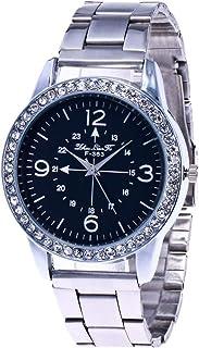 Hotkey Womens Wrist Watches Clearance Fashion Casual Ladies Watch Glass Mirror Steel Watch Quartz Watch