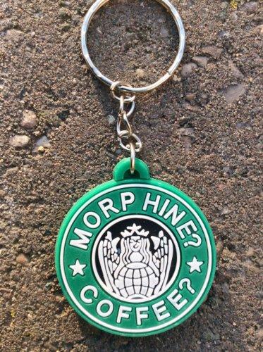 Morphine Coffee PVC Schlüsselring Kette Airsoft & Paintball Geschenk Grün