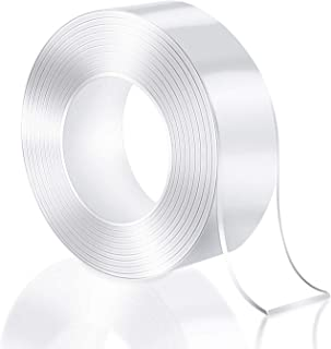 3 Meter Magic Improvement Double Sided Tape mounting Transparent Trace less Acrylic Reuse washable Waterproof Adhesive Tap...