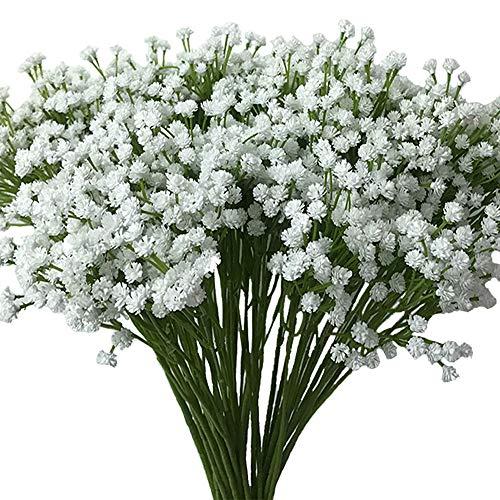 Aisamco 2 Stück Real Touch Latex Schleierkraut Künstlich Kunstblumen Künstliche Gypsophila Paniculata Blume Für Zuhause Hochzeit Party Dekor Blumenstrauß