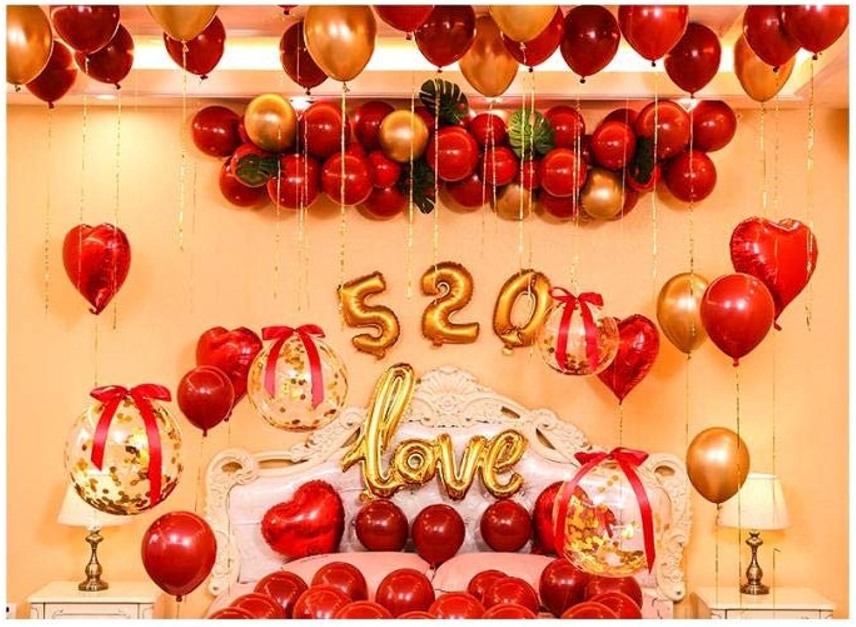 buscando agente de ventas DINGANG Decoración romántica romántica romántica Neta de la Escena de la Boda del Globo Rojo@A2  solo para ti