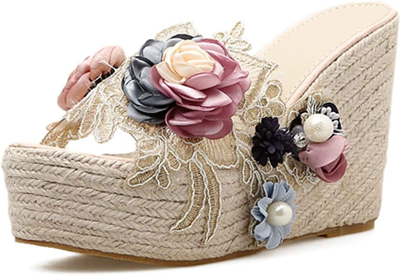 T T T JULY Sandals for kvinnor Sweet Flowers Flip Flops