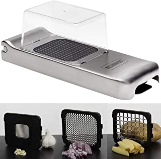 Alligator Vegetable Chopper Stainless Steel Construction and Sharpest Steel Blades - Professional Grade Chopper