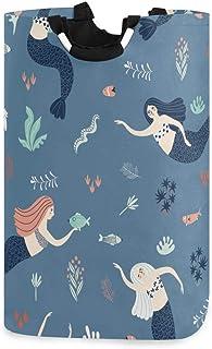 N\A Panier à Linge Grand Panier à Linge Ocean Myth Mermaid Pliable avec poignées Paniers pour paniers de Rangement à Linge...