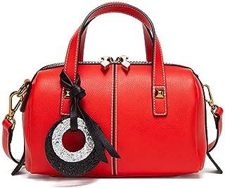 Fine Bag/Handbag Pillow Case Large Capacity Women's Shoulder Bag Elegant Adjustable Shoulder Strap Bag Exquisite Leather Crossbody Bag Portable (Color : Red, Size : One Size)