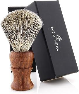 Jag Shaving Scheerkwast - Super Badger scheerkwast - Duurzame scheerkwast van hout - Elegant Design Houten Grip - Perfecte...
