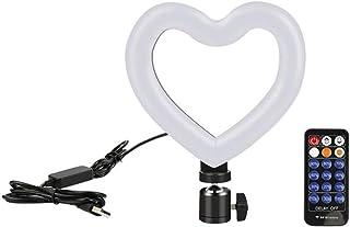"""Selfie Light 6""""خاتم سيلفي خاتم مع حامل ترايبود LED على شكل قلب سيلفي خاتم ضوء Usb عكس الضوء الجمال سطح المكتب Ringlight ل ..."""