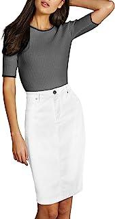 Lexi Womens Pull On Stretch Denim Skirt