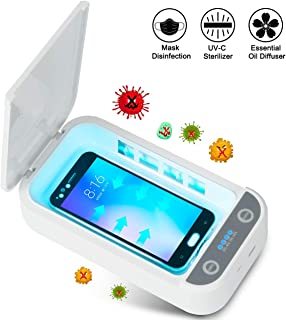 Phone UV Sanitizer, Portable UV Light Cell Phone Sterilizer,Cell Phone Cleaners UV Light Sanitzier Box for iOS Android Smartphones Jewelry Watch