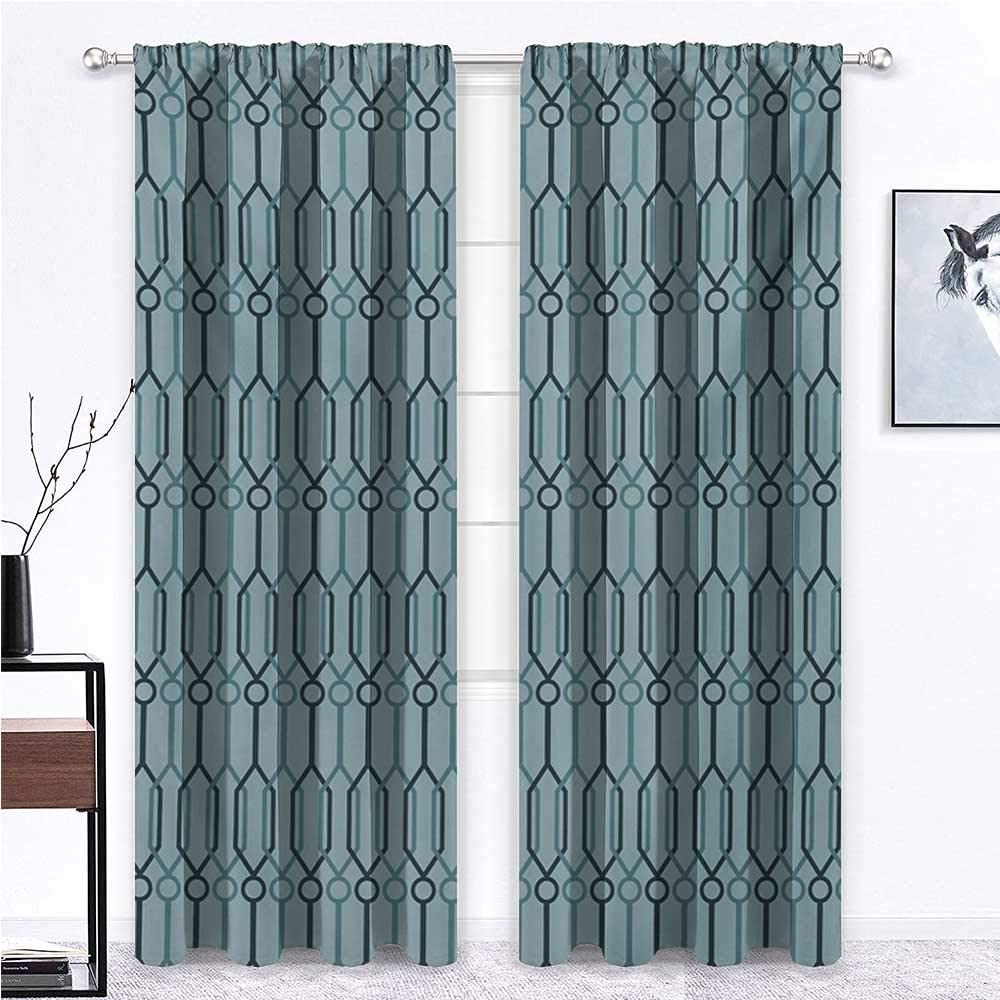 HouseLookHome ランキング総合1位 Living Room Curtain Turquoise All 期間限定特価品 Curtains Season