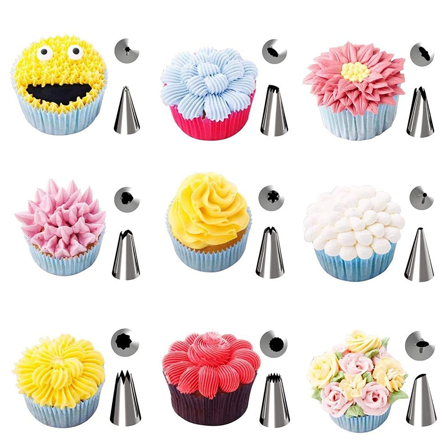 42-piece Cake DIY Tool Set With Decorating Mouth Squeezing Flower Bag Flower Nails Complete Combination Of Converters