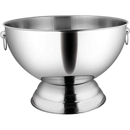 Elegance Hammered 3 Gallon Stainless Steel Doublewall Punch Bowl Punch Bowls