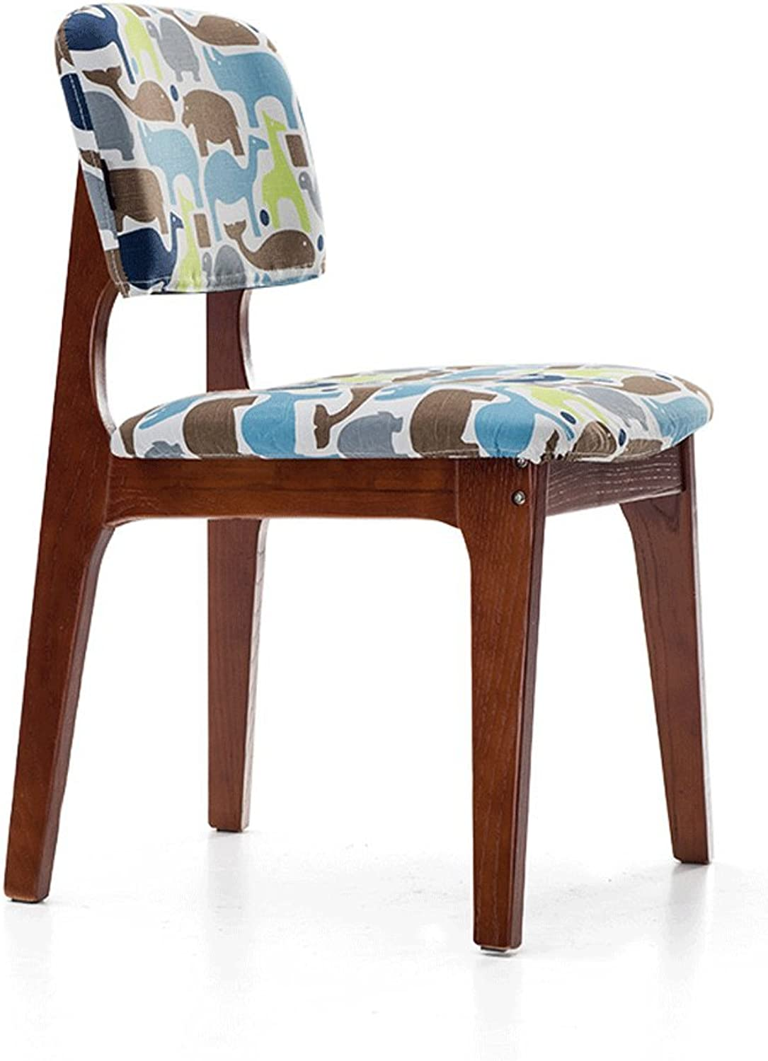 Barstool Solid Wood Chair Washable Fabric Seat Cover Dressing Table Dining Chair Study Chair Barstool Coffee Shop Chair