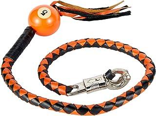 106,6 cm de comprimento, 1,3 cm de diâmetro, laranja e preto para motocicleta, ganhe chicote com NÃO. 5 bolas de bilhar