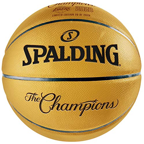 Los Angeles Lakers Unsigned Gold Spalding 2020 NBA Finals Champions Official Basketball - Unsigned NBA Basketballs