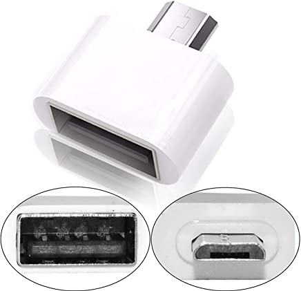 Storite Cute Little Square OTG Adapter for Smartphones & Tablets- White