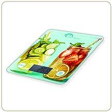 LITTLE BALANCE 8337 Happy Food - Balance de cuisine électronique - 5 kg / 1 g - Plateau en verre trempé - Design Boissons ...