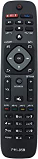 MYHGRC New Replacement Philips Remote Control PHI-958 for LCD LED HD Smart TVs, Philips Bravia Remote Control Fit for YKF340001 URMT39JHG003 YKF340-001 50PFL4909 50PFL4909/F7 55PFL4609 55PFL4609/F7