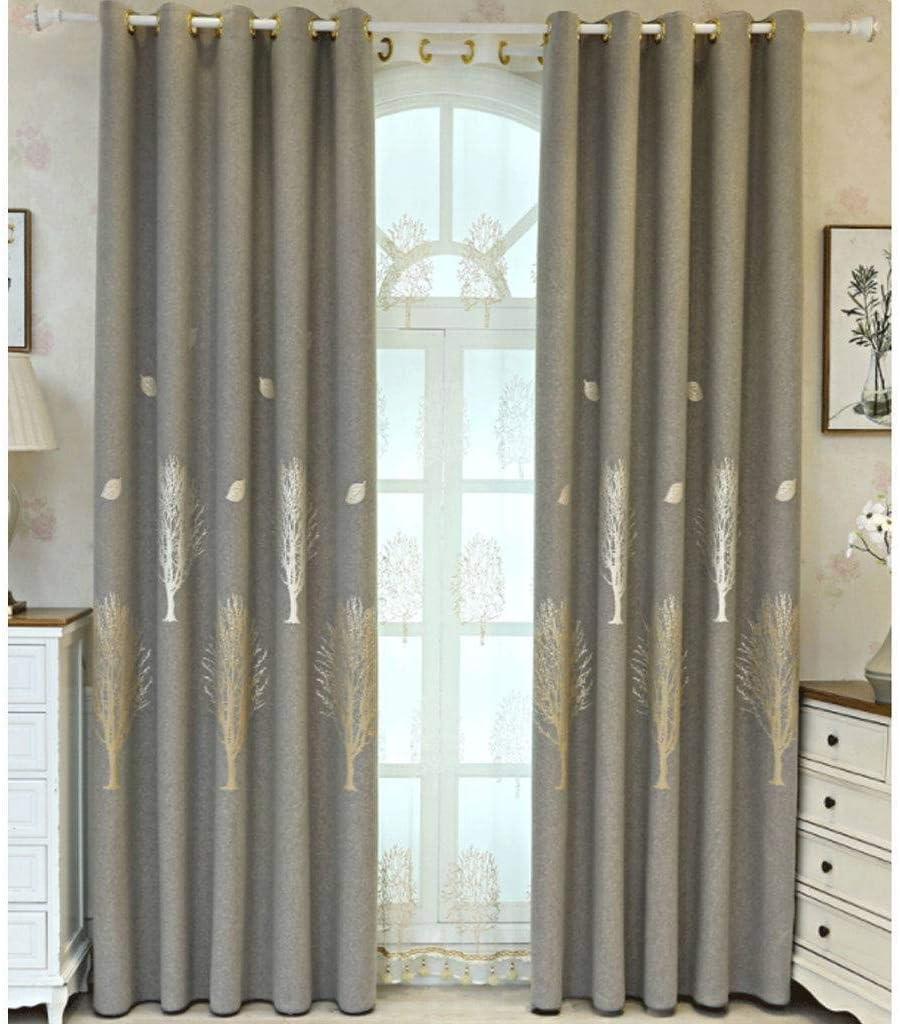 Cotton Linen Curtain Blackout Thermal 超特価 Anti UV Insulation 買収 Noise