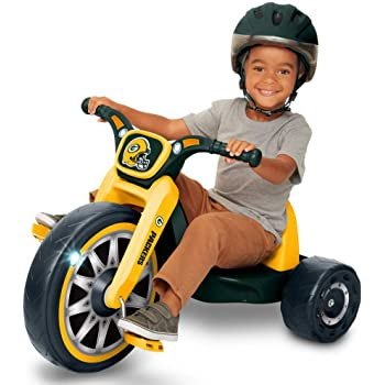 """NFL FLY WHEELS Green Bay Packers 15"""" Cruiser Ride-On with 3 Position Adjustable Seat, Ages 3-7"""