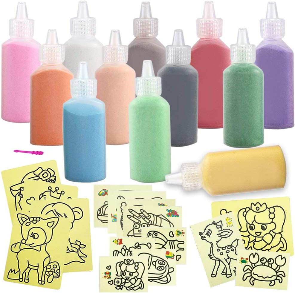 High quality Yvjnxxan 12 Colored Sand Art Kit Craft Scenic Choice