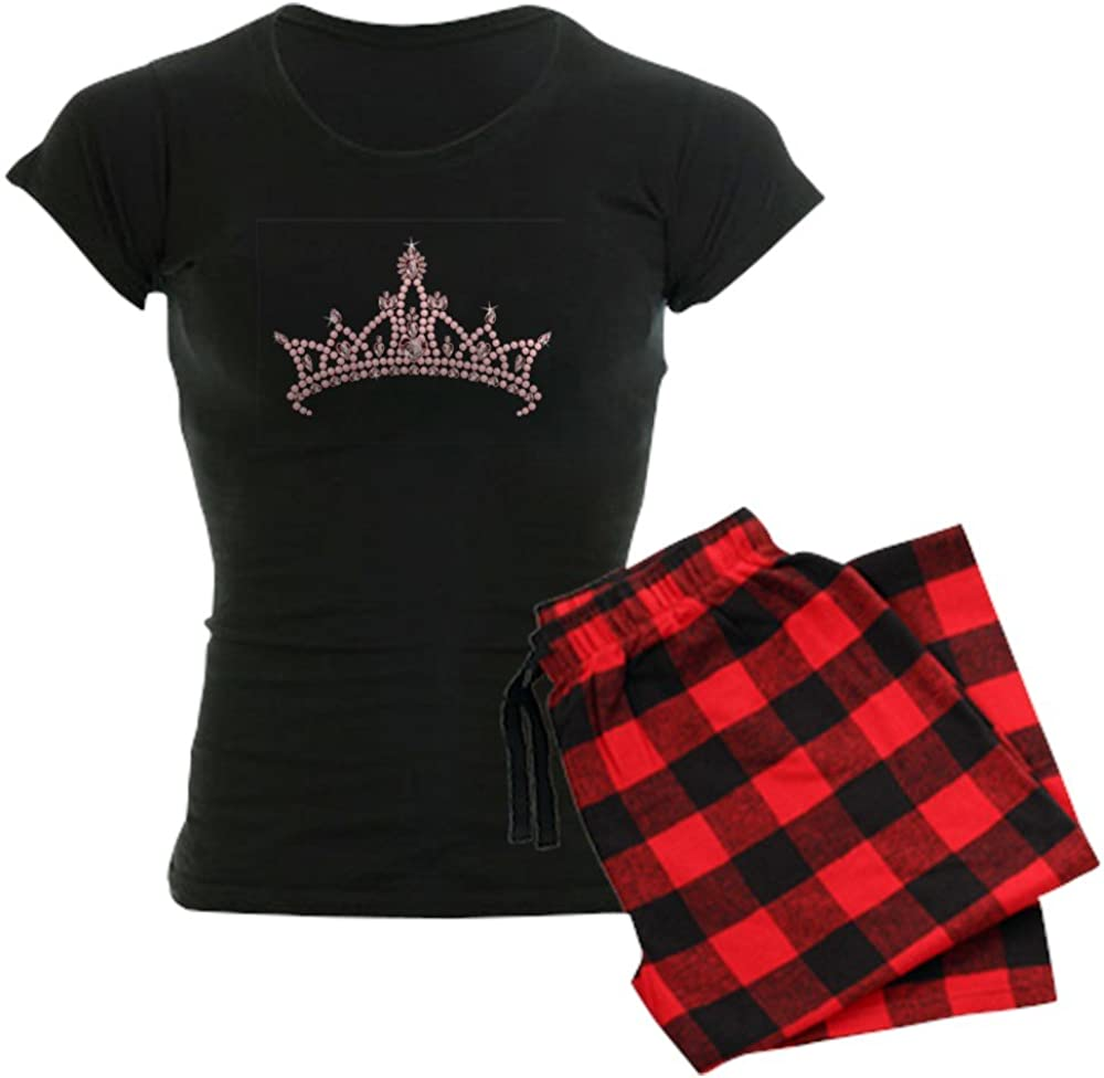 CafePress Pink Tiara Cheap super special price Women's Dark New product type PJs Pajamas