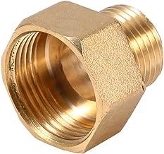 iFCOW Reductor de Tubería 1 Pieza de Tubo de Agua de Latón Adaptador Reductor de Buje Hexagonal 1/2Bspt Macho Y Rosca Hemb...