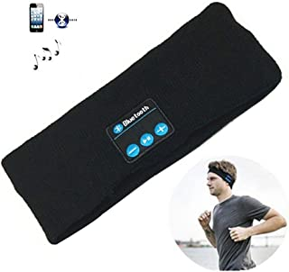 WengHuang Bluetooth Music Headband Sweatband Headwear Strap with Built in Bluetooth Wireless Speaker and Headset for Gym Exercise Running Sleeping