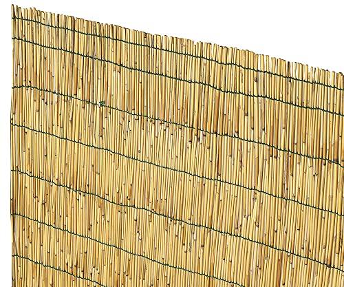 VERDELOOK Arella Cina in cannette Bamboo pelato, 1.5x3 m, bambù per recinzioni e Decorazioni