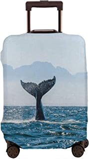 Whale Tail Luggage Cover Spandex Travel Suitcase Protector Elastic Stretchy L Fits 25-28 inch luggage