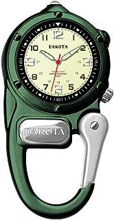 Dakota 3806-6 Mini Clip Microlight Watch, Green