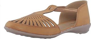 Khadims Women Tan Flat Sandal