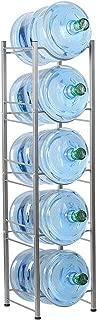 CASAVIDA Water Jug Holder, 5-Tier Water Bottle Storage Rack Detachable Heavy Duty Water Bottle Cabby Rack Storage Rack Holder, Silver
