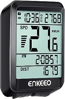 ENKEEO Ciclocomputador Cableado de Bicicleta, Cuentakilómetros Velocímetro, Velocidad Actual/AVG/MAX Tiempo/Distancia de Vieje
