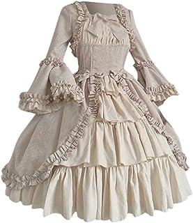 SSUPLYMY Frauen Vintage Kleid Gothic Court Patchwork Bow Kleid quadratischer Kragen Taille Nähen Bogen Kleid Kleid Plissee Cocktailkleid Damen Party Abendkleid