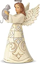 Enesco Jim Shore Heartwood Creek Collection Farmhouse Angel with Cat Failthful Friend Figurine, 5.2