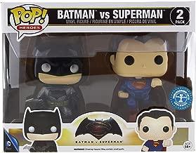 Funko DC Heroes Batman VS. Superman Metallic 2-Pack Pop Vinyl Set
