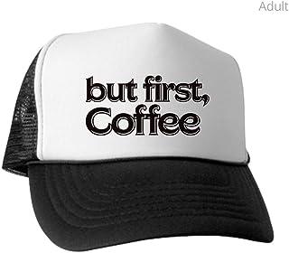 c7a8db5a CafePress - But First Coffee - Trucker Hat, Classic Baseball Hat, Unique  Trucker Cap